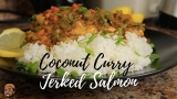 HOW TO MAKE COCONUT CURRY JERK SALMON