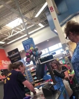 Walmart is not sending their best and brightest. He must be on medication to be moving so slow