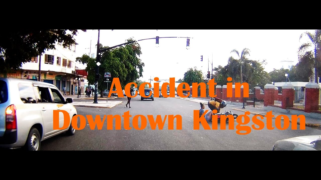 Accident in downtown kingston