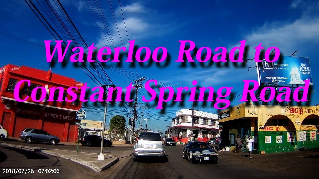 Waterloo Road to Constant Spring Road