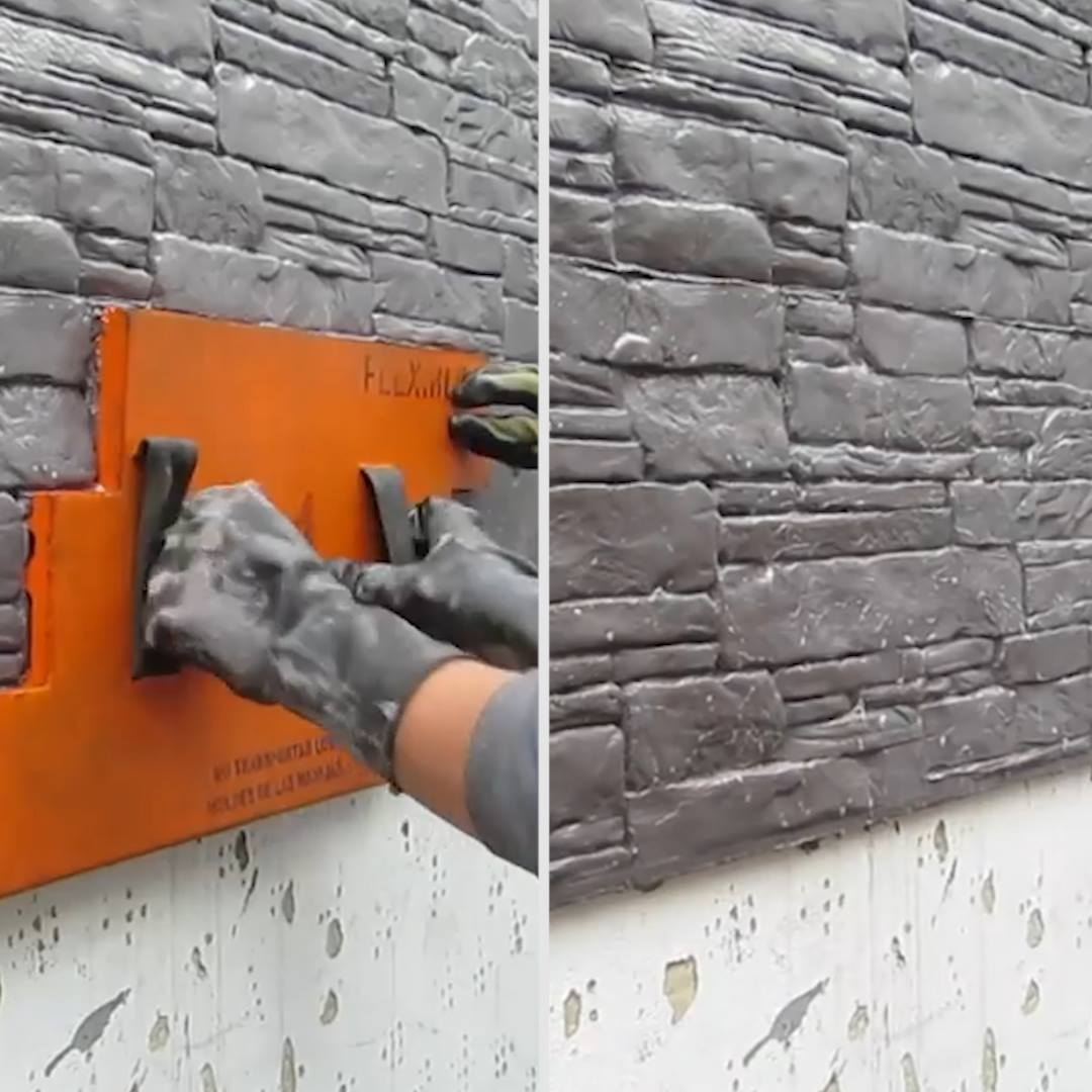 So this is kinda cool, making smooth mortar look stylish